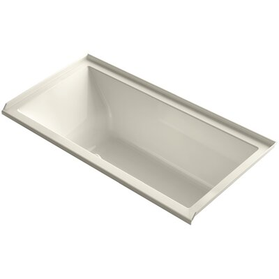 Underscore 60 x 30 Air Bathtub Finish: Almond, Drain Location: Right