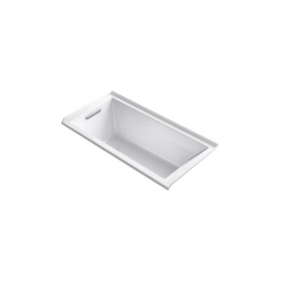 Underscore 60 x 30 Soaking Bathtub Finish: Almond, Drain Location: Left