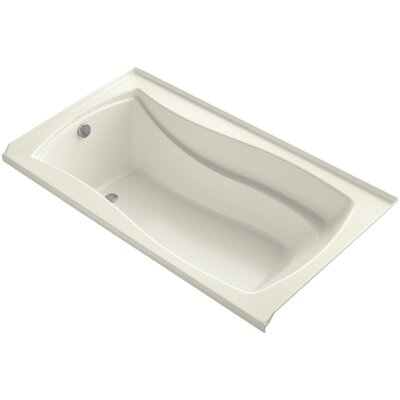 Mariposa 66 x 36 Soaking Bathtub Finish: Biscuit, Drain Location: Left