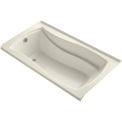 Mariposa Alcove 66 x 36 Soaking Bathtub Finish: Biscuit, Drain Location: Left