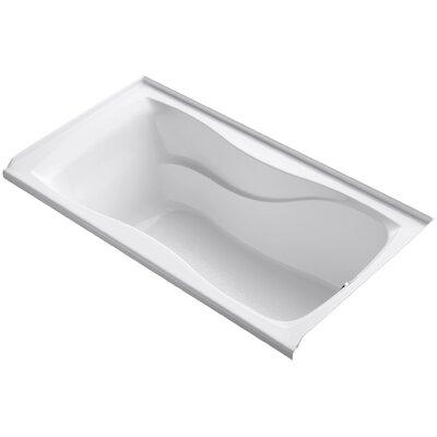 Hourglass Alcove 60 x 32 Soaking Bathtub Finish: White