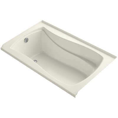 Mariposa Alcove Vibracoustic 60 x 36 Soaking Bathtub Finish: Biscuit, Drain Location: Left