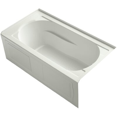 Devonshire Alcove Vibracoustic 60 x 32 Soaking Bathtub Finish: Dune, Drain Location: Right