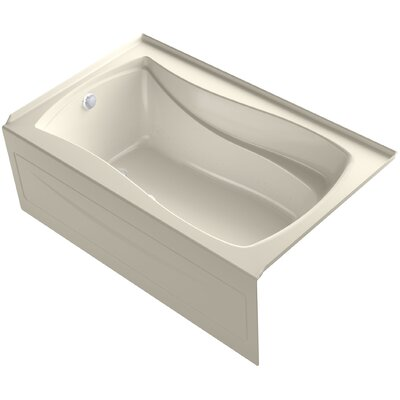 Mariposa� 60 x 36 Alcove BubbleMassage� Air Bath with Integral Apron Finish: Almond, Drain Location: Left