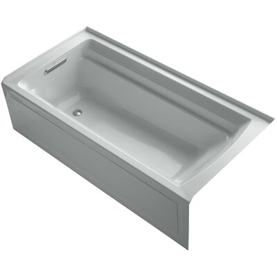 Archer 72 x 36 Soaking Bathtub Finish: Ice Grey, Drain Location: Left