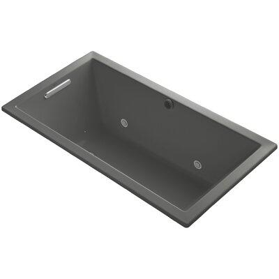 Underscore 60 x 32 Air Bathtub Finish: Thunder Grey