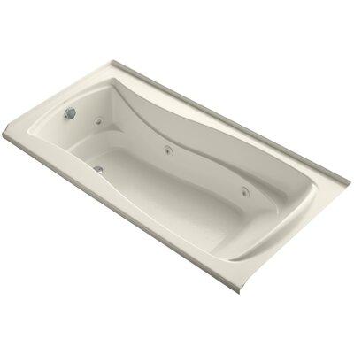Mariposa Alcove 72 x 36 Whirpool Bathtub Finish: Almond, Drain Location: Left