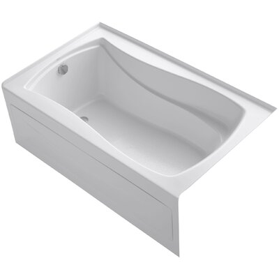 Mariposa 60 x 36 Soaking Bathtub Finish: White, Drain Location: Left