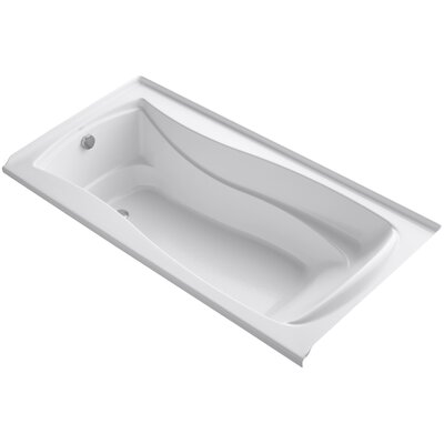 Mariposa Alcove Bubblemassage 72 x 36 Soaking Bathtub Finish: White, Drain Location: Right