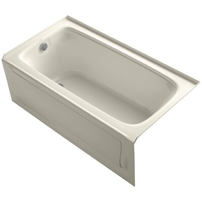 Bancroft 60 x 32 Alcove BubbleMassage Air Bathtub Finish: Dune, Drain Location: Left