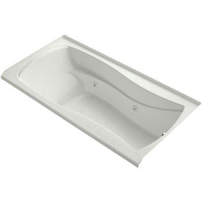 Mariposa Alcove 72 x 36 Whirpool Bathtub Finish: Dune, Drain Location: Right