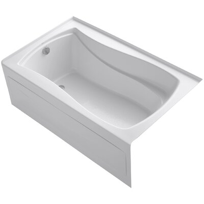 Mariposa Alcove 60 x 36 Soaking Bathtub Finish: White, Drain Location: Left