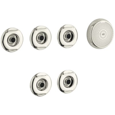 Flexjet Whirlpool Trim Kit with Five Jets Finish: Vibrant Polished Nickel