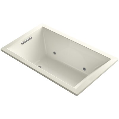 Underscore 60 x 36 Air Bathtub Finish: Biscuit