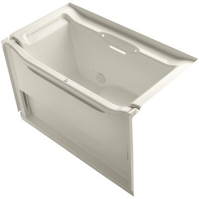 Elevance 60 x 34 Soaking Bathtub Finish: Almond, Drain Location: Left
