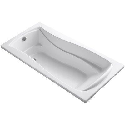 Mariposa Bubblemassage 72 x 36 Soaking Bathtub Finish: White