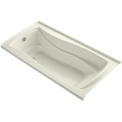 Mariposa 72 x 36 Soaking Bathtub Finish: Biscuit, Drain Location: Left