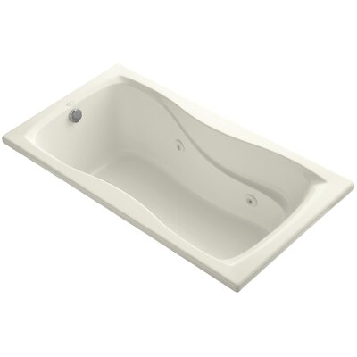 Hourglass 60 x 32 Whirlpool Bathtub Finish: Biscuit