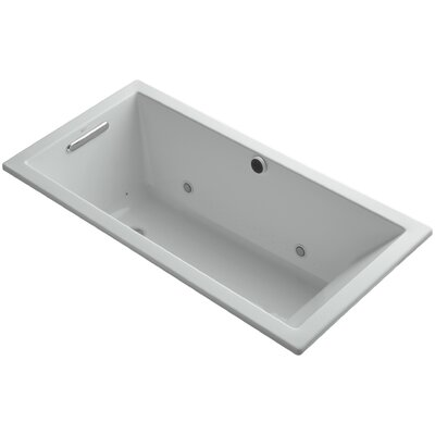 Underscore 60 x 30 Air Bathtub Finish: Ice Grey