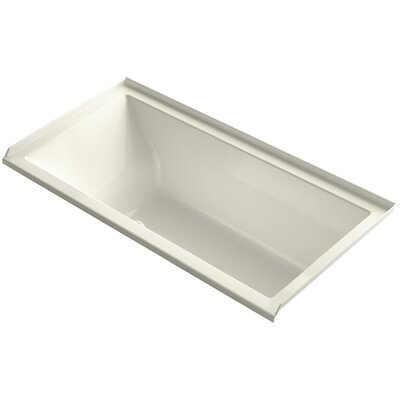 Underscore 60 x 30 Air Bathtub Finish: Biscuit, Drain Location: Right