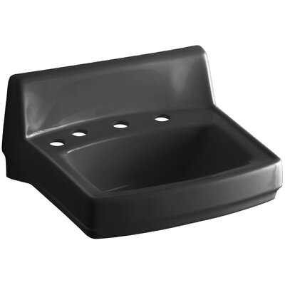 Greenwich 21 Wall Mount Bathroom Sink Finish: Black Black