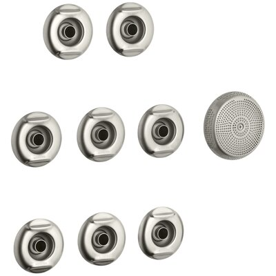 Flexjet Whirlpool Trim Kit with Eight Jets Finish: Vibrant Brushed Nickel