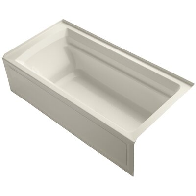 Archer 72 x 36 Soaking Bathtub Finish: Almond, Drain Location: Right