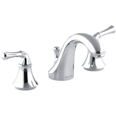 Fort� Widespread Bathroom Sink Faucet with Traditional Lever Handles Finish: Polished Chrome