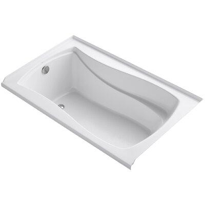 Mariposa Alcove 60 x 36 Soaking Bathtub Finish: White