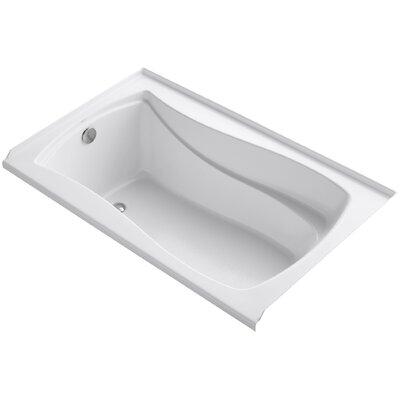 Mariposa Alcove 60 x 36 Soaking Bathtub Finish: White, Drain Location: Left