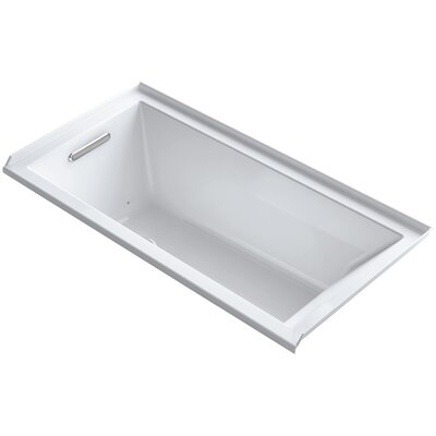 Underscore 60 x 30 Air Bathtub Finish: White, Drain Location: Left
