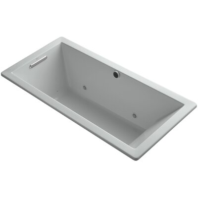 Underscore 66 x 32 Air Bathtub Finish: Ice Grey