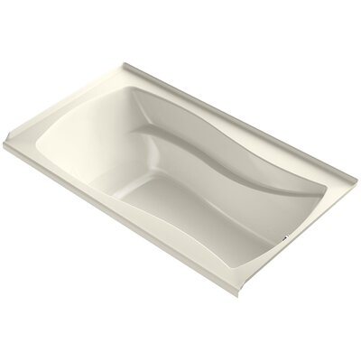 Mariposa 66 x 36 Air Bathtub Finish: Biscuit, Drain Location: Right