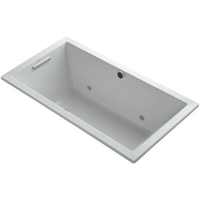 Underscore 60 x 32 Air Bathtub Finish: Ice Grey