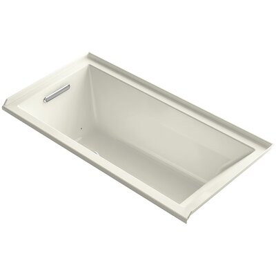 Underscore 60 x 30 Air Bathtub Finish: Biscuit, Drain Location: Left