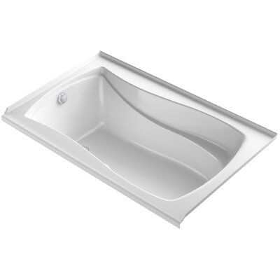 Mariposa Bubblemassage 60 x 36 Soaking Bathtub Finish: White, Drain Location: Left