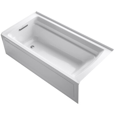 Archer 72 x 36 Soaking Bathtub Finish: White, Drain Location: Left
