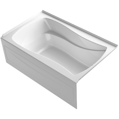 Mariposa� 60 x 36 Alcove BubbleMassage� Air Bath with Integral Apron Finish: White, Drain Location: Left