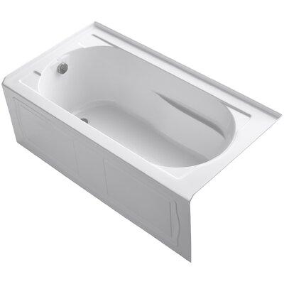 Devonshire 60 x 32 Soaking Bathtub Finish: White, Drain Location: Left