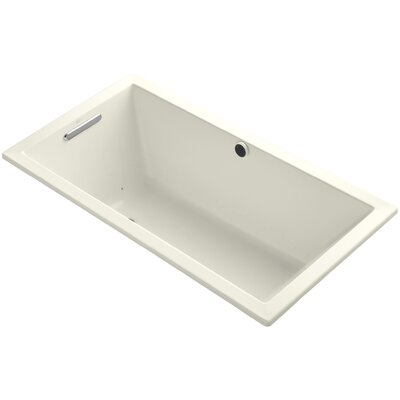Underscore 60 x 32 Air Bathtub Finish: Biscuit