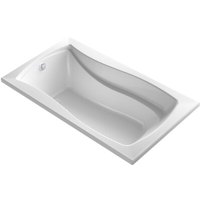 Mariposa Bubblemassage 66 x 36 Soaking Bathtub Finish: White