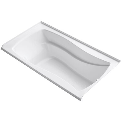 Mariposa 66 x 36 Soaking Bathtub Finish: White, Drain Location: Right