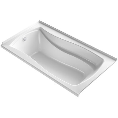 Mariposa Alcove Bubblemassage 66 x 36 Soaking Bathtub Finish: White, Drain Location: Left