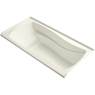 Mariposa Alcove Bubblemassage 72 x 36 Soaking Bathtub Finish: Biscuit, Drain Location: Left