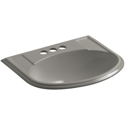 Devonshire� Ceramic U-Shaped Drop-In Bathroom Sink with Overflow Finish: Cashmere