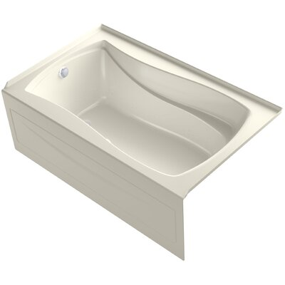 Mariposa Bubblemassage 60 x 36 Soaking Bathtub Finish: Biscuit, Drain Location: Right