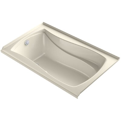 Mariposa Alcove Bubblemassage 60 x 36 Soaking Bathtub Finish: Almond, Drain Location: Left