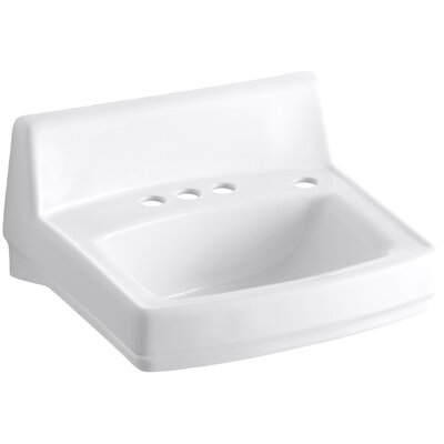 Greenwich Ceramic 21 Wall Mount Bathroom Sink Finish: White