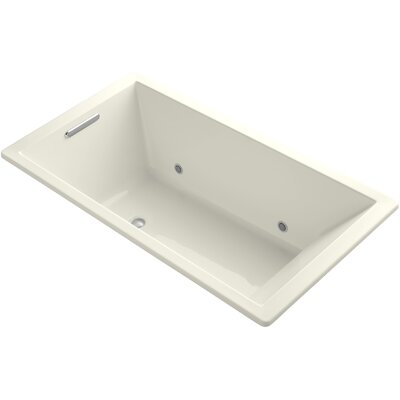 Underscore 66 x 36 Soaking Bathtub Finish: Biscuit