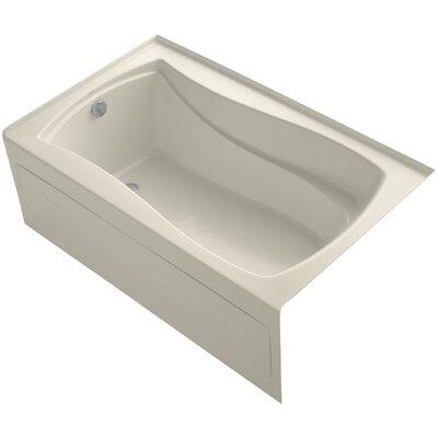 Mariposa 60 x 36 Soaking Bathtub Finish: Almond, Drain Location: Left